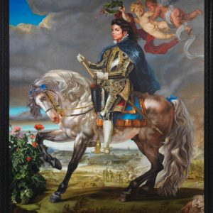 Equestrian portrait of king Philip II, 2010, by Kehinde Wiley