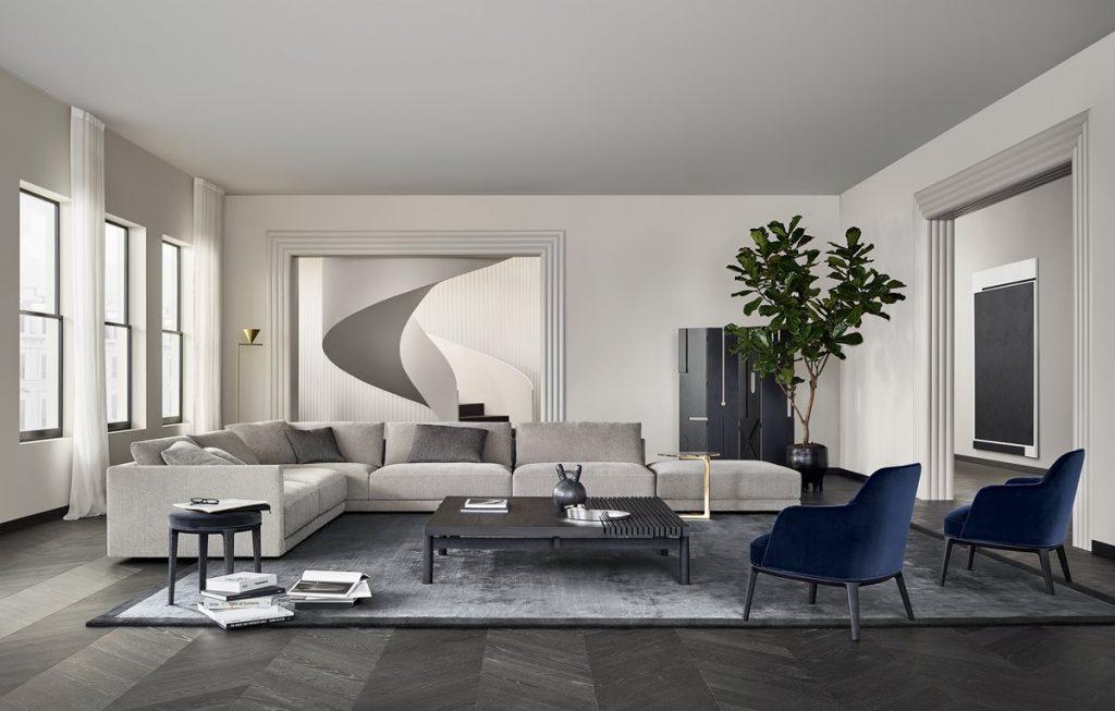 Sofa Bristol, projekt Jean-Marie Massaud