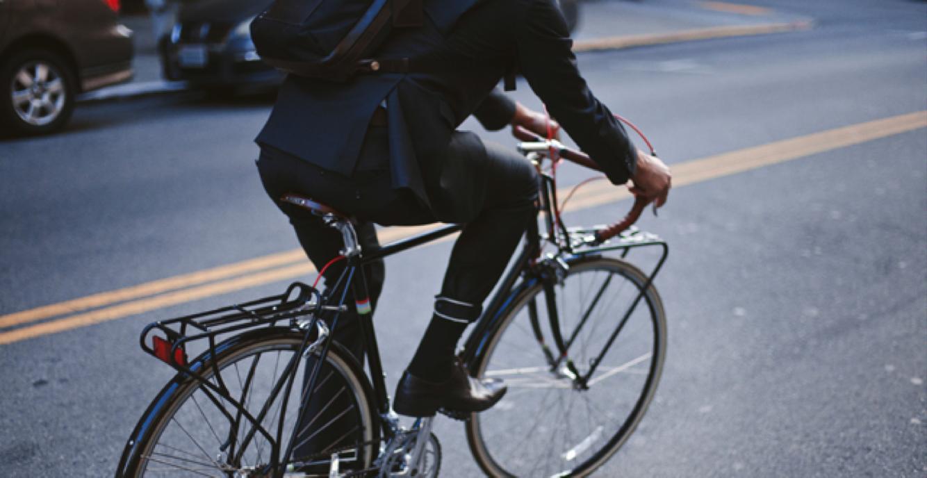 High fashion na rowerze