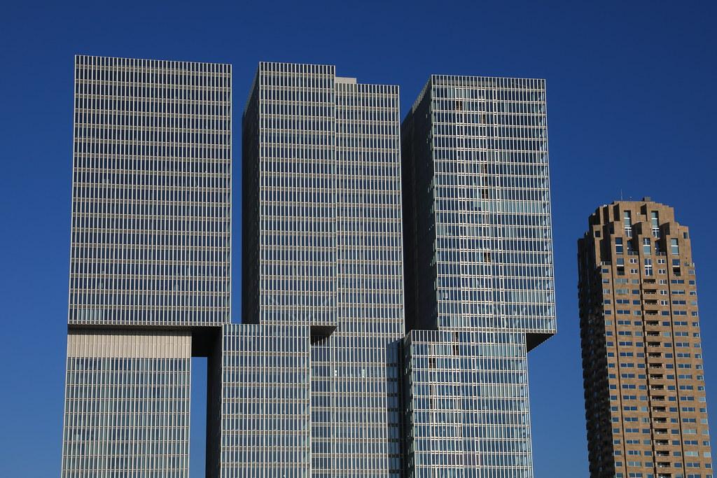 Projekt Southbank w Rotterdamie w Holandii.