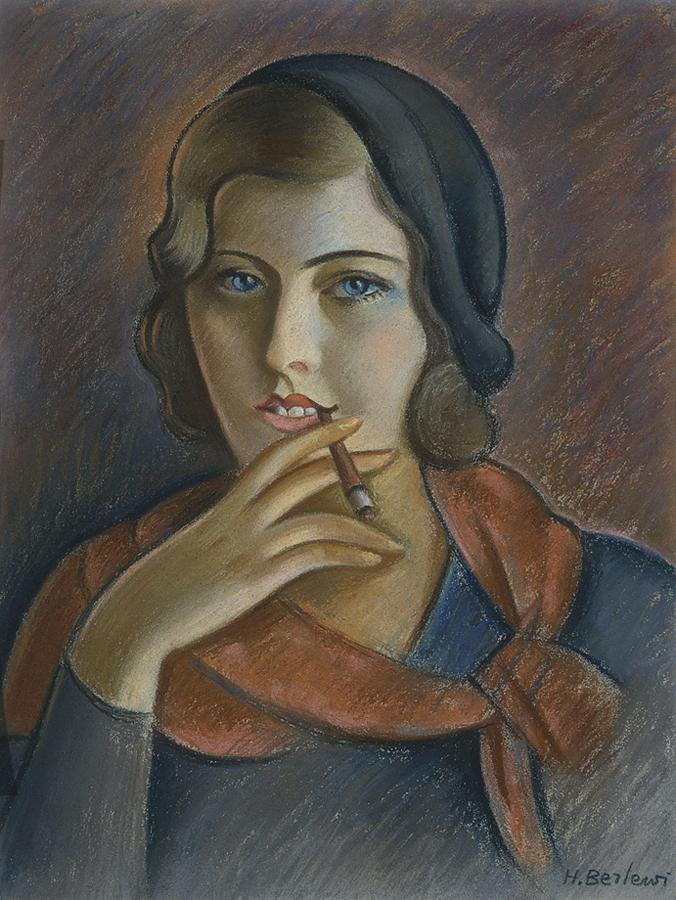 Portret dziewczyny z papierosem, Henryk Berlewi