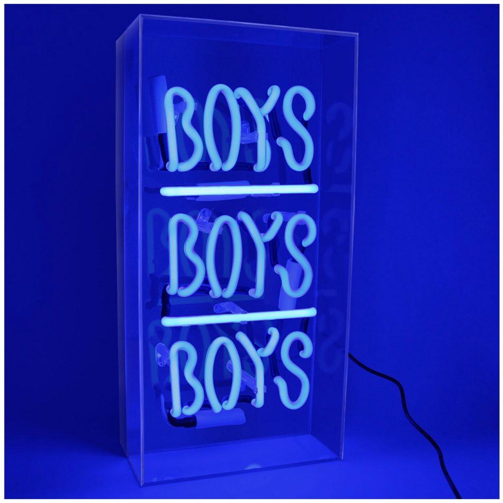 Akrylowe pudełko z neonami Boys, boys, boys | design: Locomocean