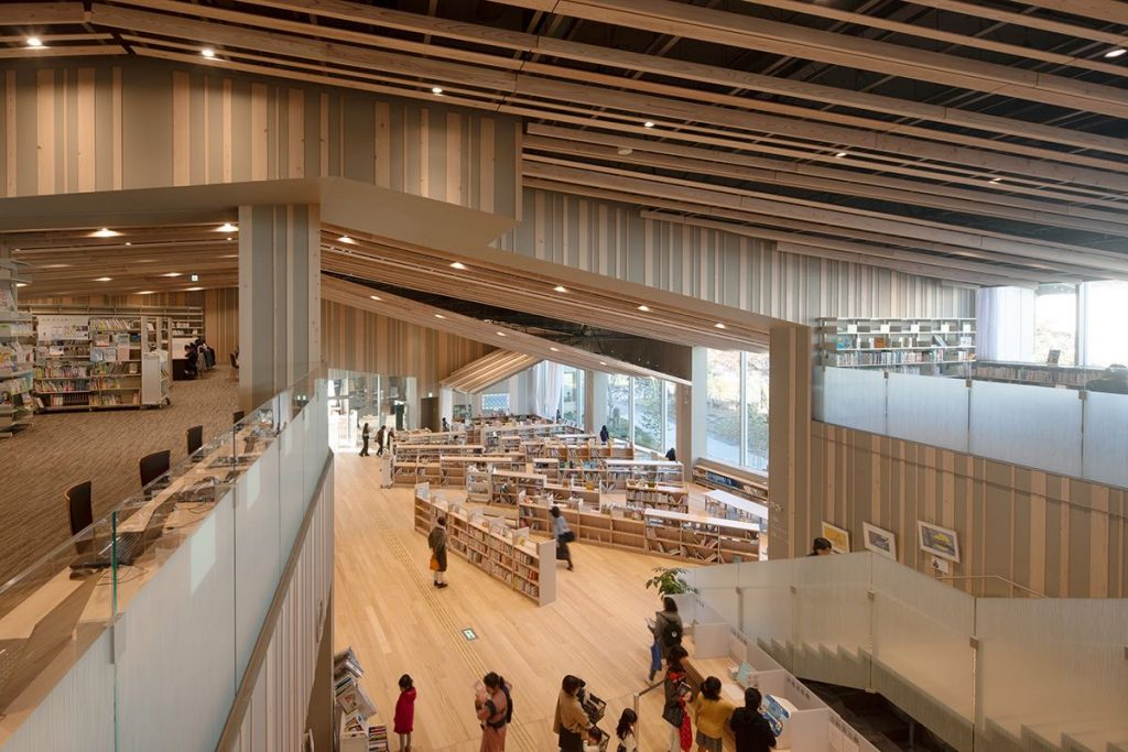 Biblioteka Moriyama | Kengo Kuma 3 © Kawasumi・Kobayashi Kenji Photograph Office