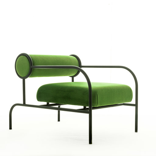 CAPPELLINI - SOFA WITH ARMS BLACK EDITION GREEN ARMCHAIR BY SHIRO KURAMATA rewolucyjne ikony designu