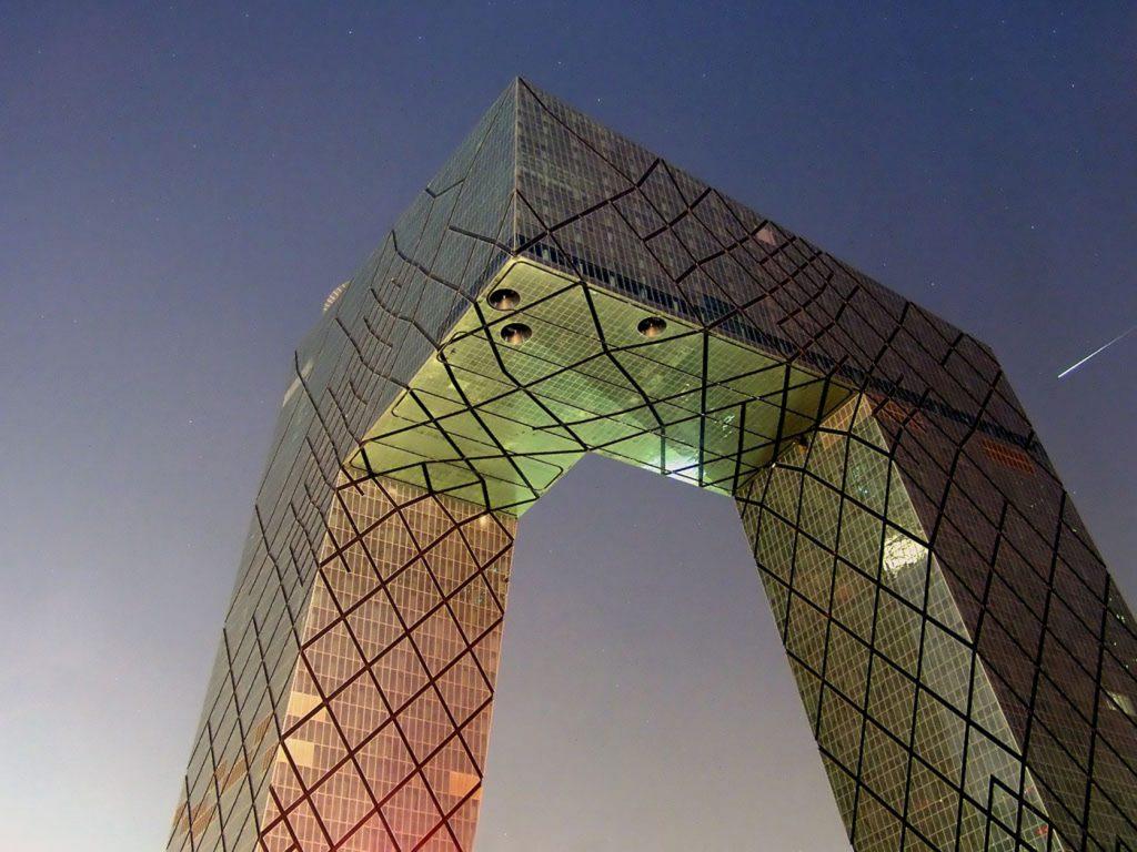 CCTV w Pekinie - projekt za który Rem Koolhaas otrzymał Nagrodę Pritzkera.