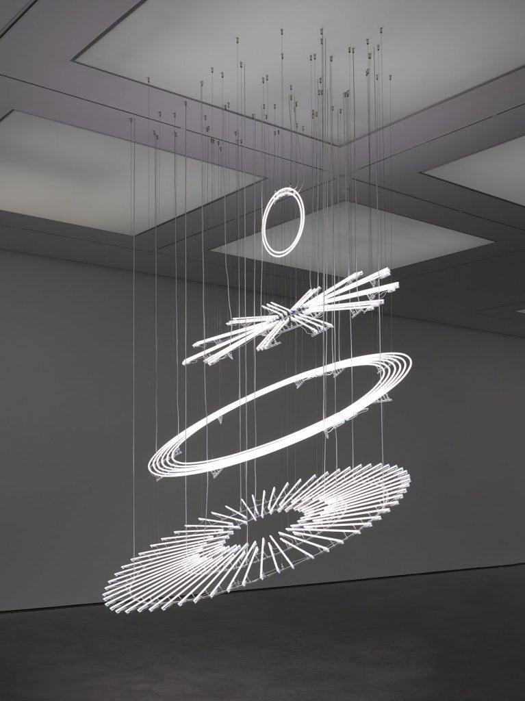 Cerith Wyn Evans, The Illuminating Gas... (after Oculist Witnesses), 2015 © Cerith Wyn Evans. Courtesy White Cube. Photo- George Darrell.