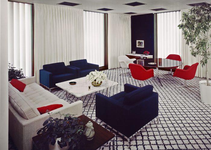 Florence Knoll, CBS Building interiors, New York City. Photograph by Robert Damora, 1965 ©Damora Archive
