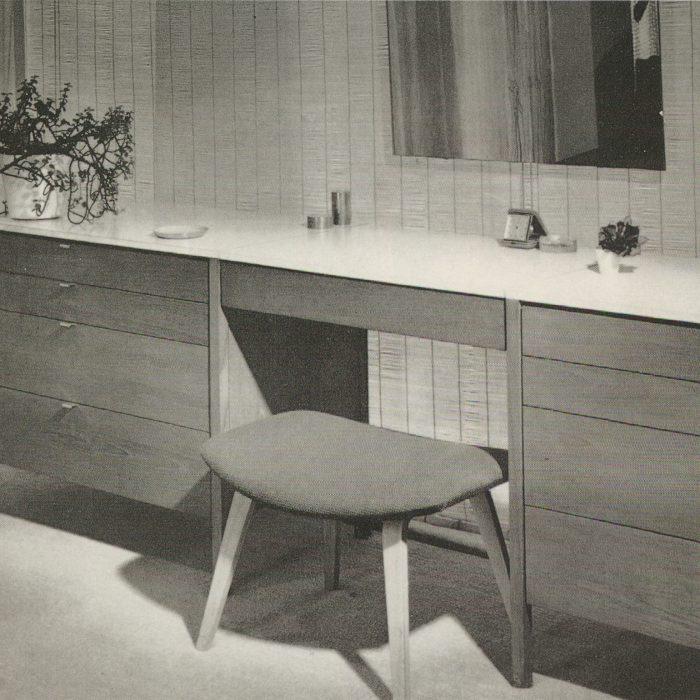 Suspended Vanity, projekt Florence Knoll