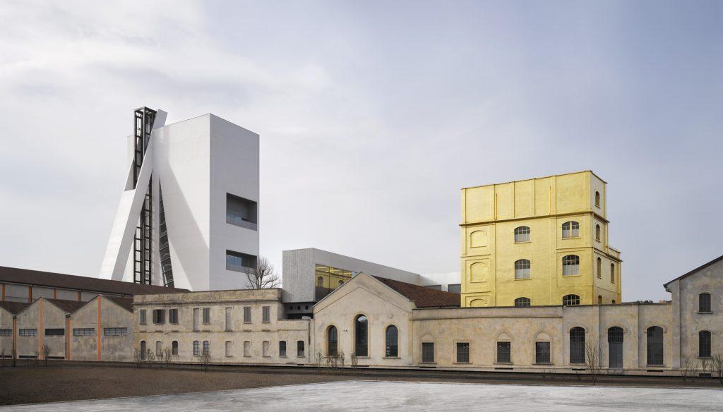 Projekt wieży Torre w Fondazione Prada w Mediolanie.