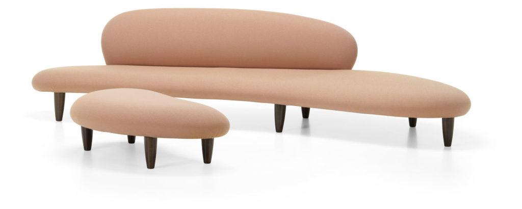 Freeform Sofa, Freeform Ottoman Isamu Noguchi, 1946