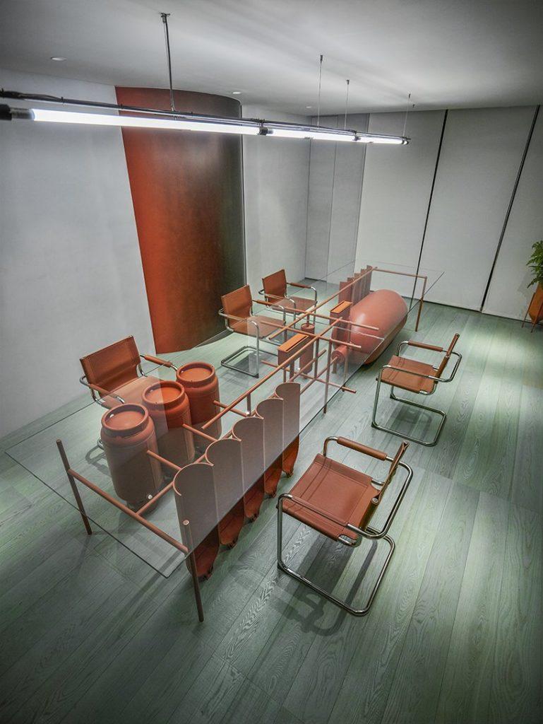 Industrialny styl biuro Tajwan 02