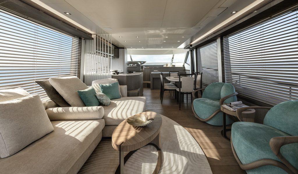 Jacht MCY76 | architekci- Carlo Nuvolari e Dan Lenard