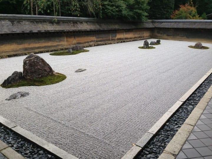 Ogród japoński suchego krajobrazu
