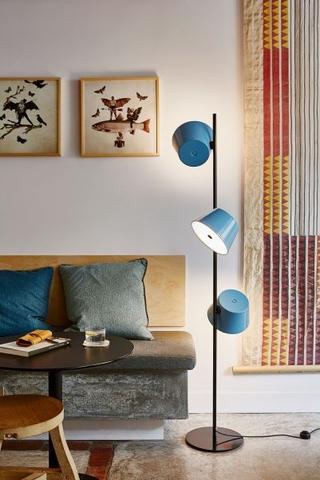 w stylu vintage Lampa stojąca z kolekcji Tam Tam, Marset