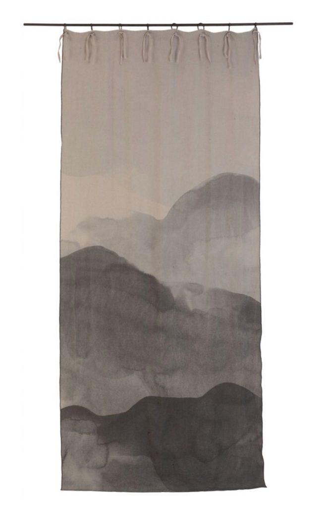 Lniane zasłony LE MONDE SAUVAGE BEATRICE LAVALAdd Curtain ink Maison & Objet 2020