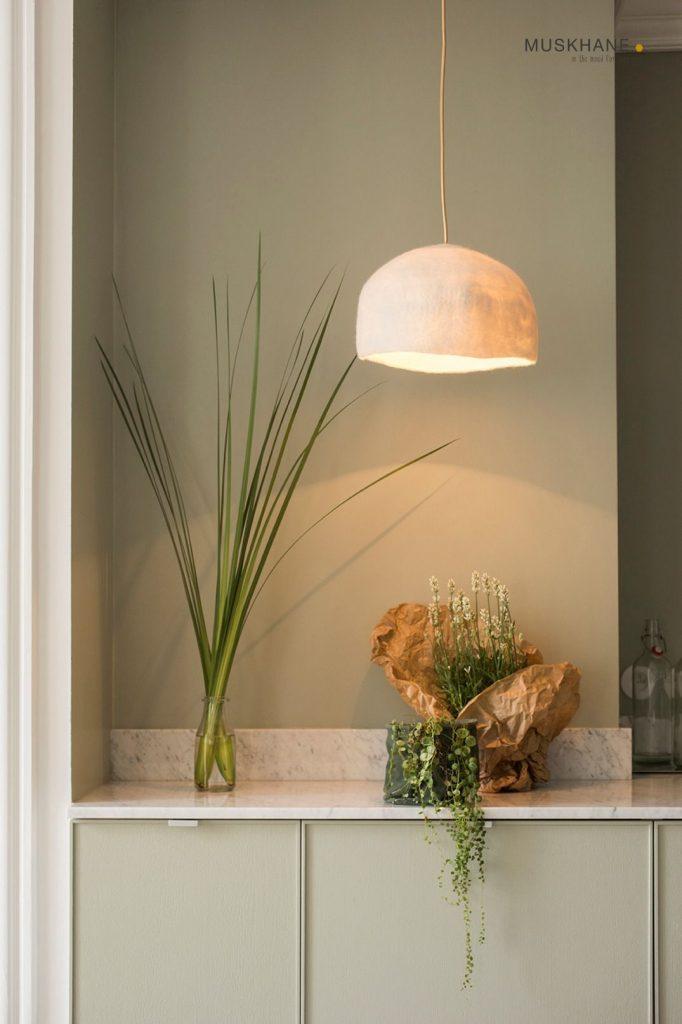 Klosz lampy z filcu Big Reversible | Muskhane Maison & Objet 2020