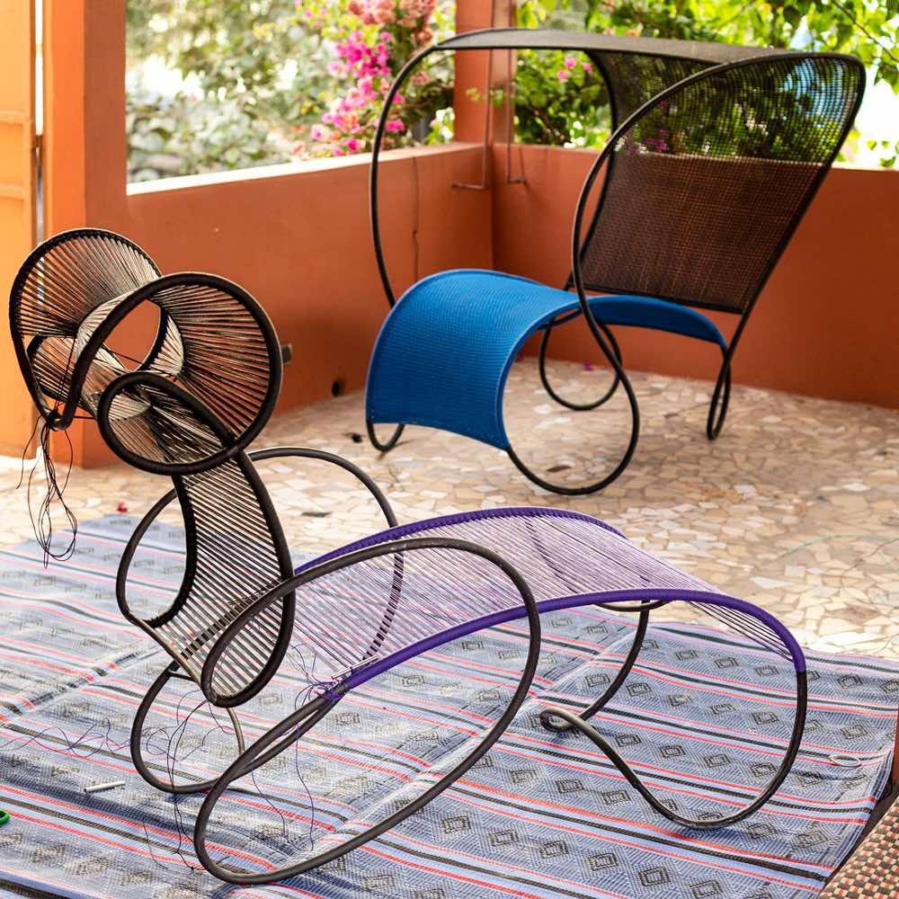Modou, chaise longue by Ron Arad Moroso
