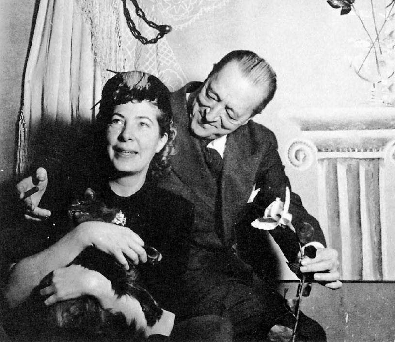 Mies van der Rohe i Lora Marx, Chicago, 1941