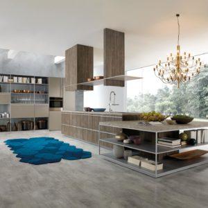 Kuchnia Rastelli Beluga projekt Ferruccio Laviani