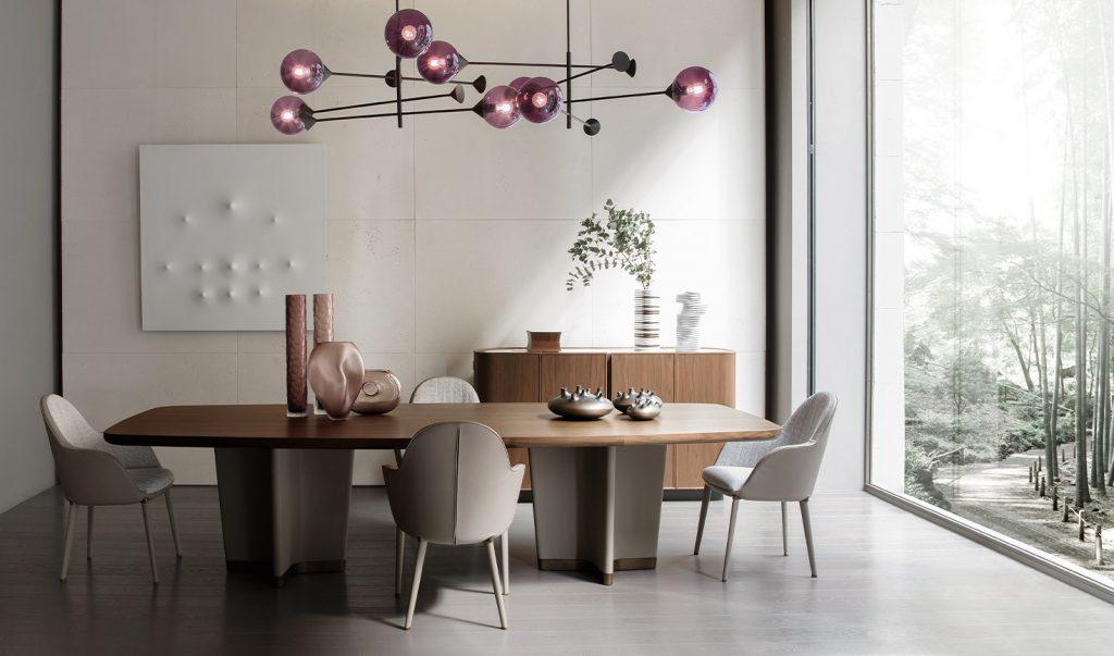 Stół Bigwig & krzesła Selene | Giorgetti design- Roberto Lazzeroni