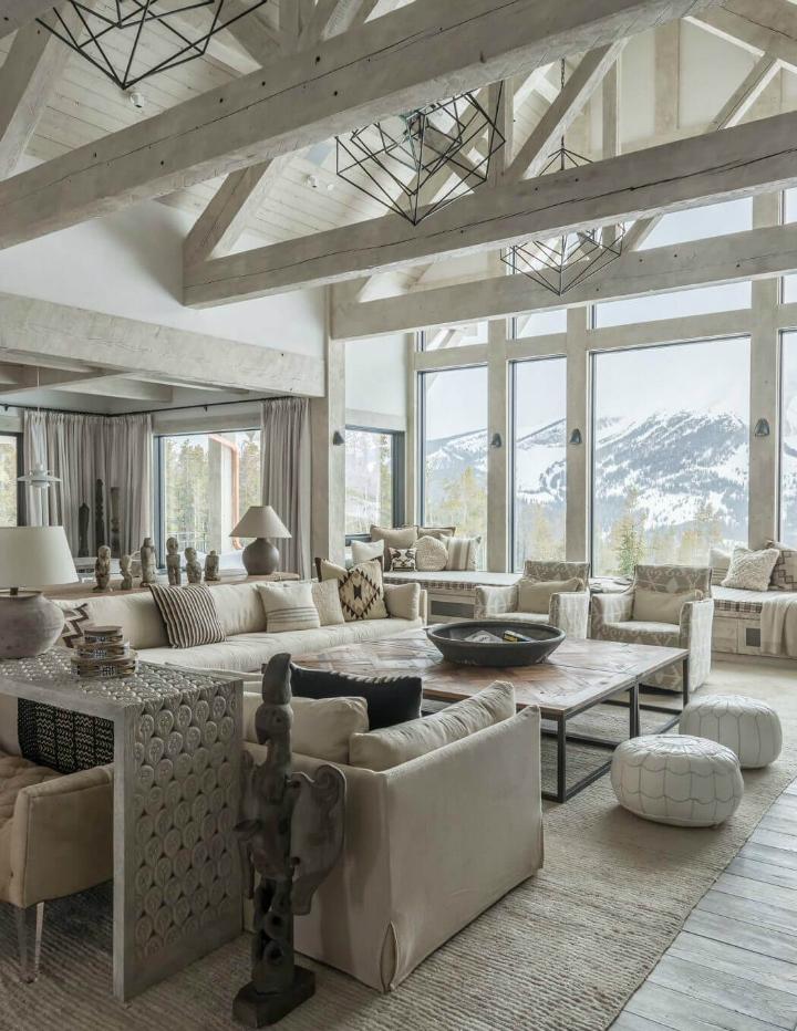 Styl rustykalny Góry Skaliste USA interior design Cashmere 03