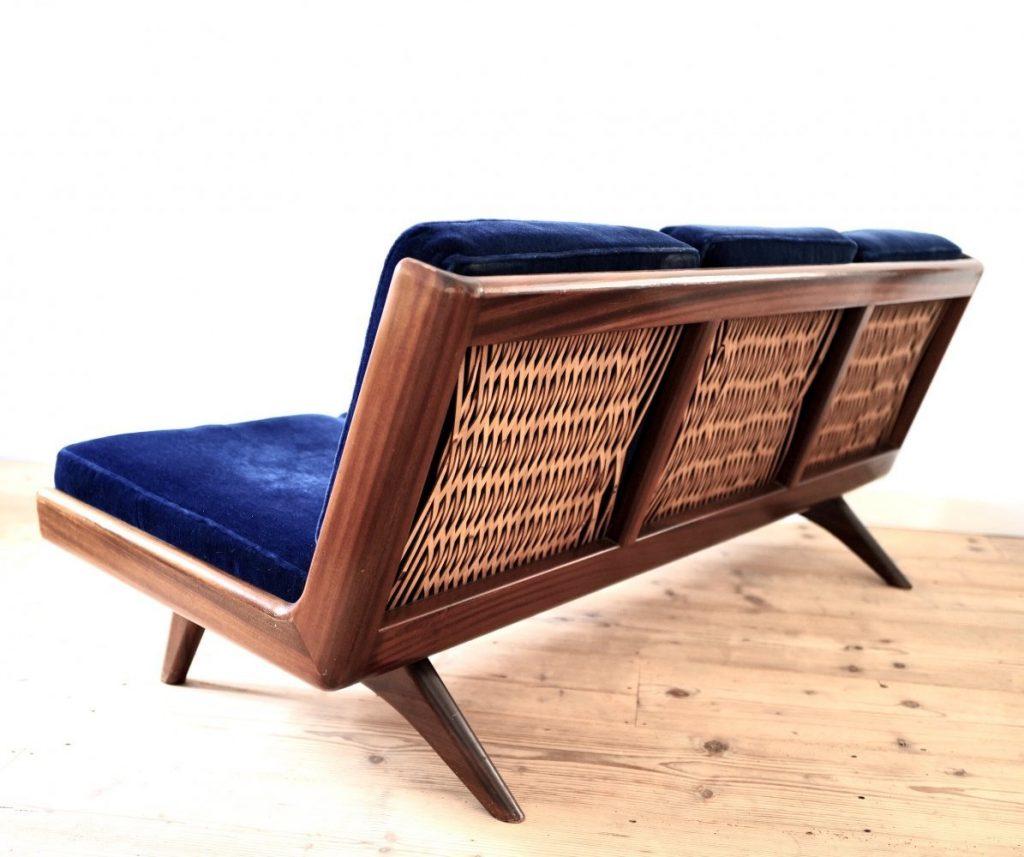 Trienna Sofa by Carl Gustav Hiort af Ornäs for Puunveisto OY, 1950s vintage.com