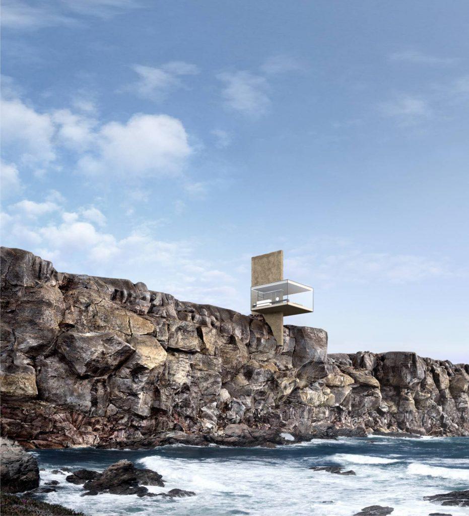 Yakusha-Design-koncepcja niewielkiego domu na klifie 01