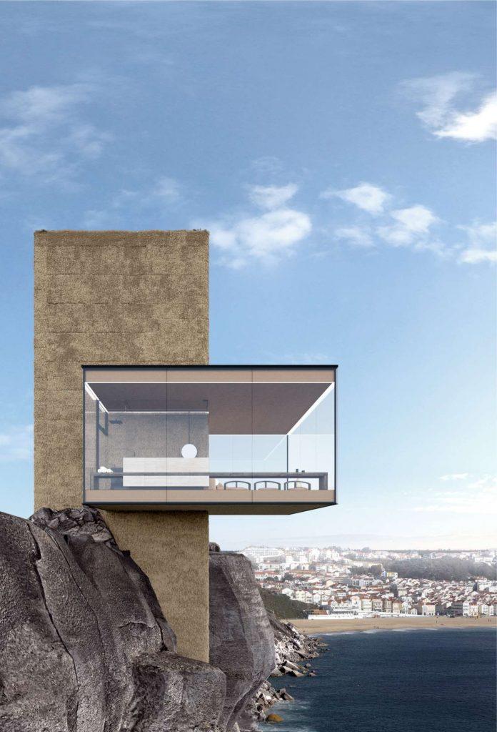 Yakusha-Design-koncepcja niewielkiego domu na klifie 02