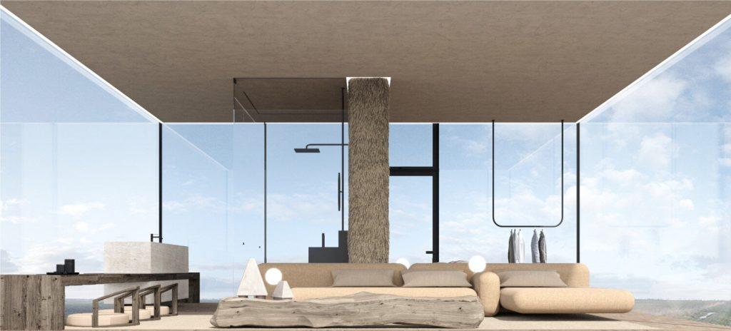 Yakusha-Design-koncepcja niewielkiego domu na klifie 07