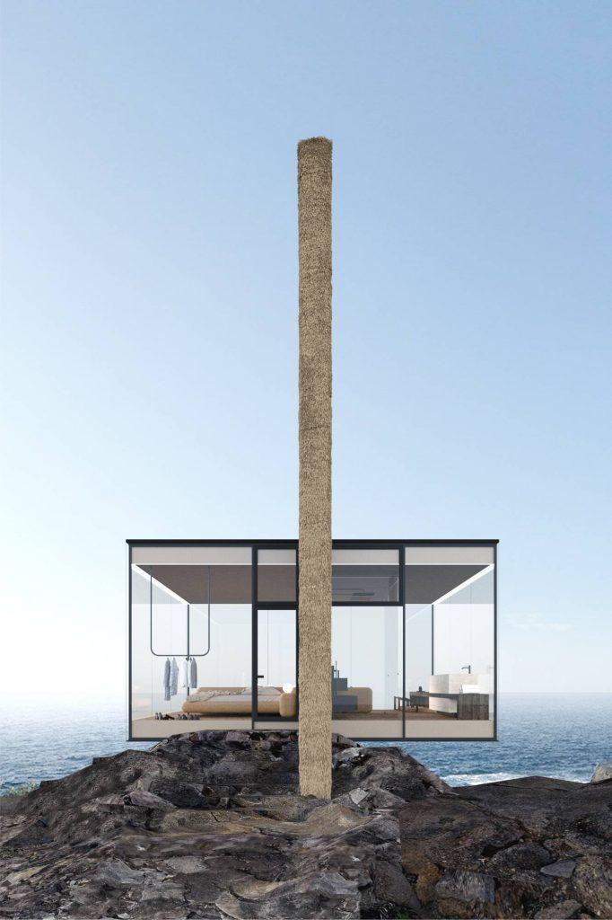 Yakusha-Design-koncepcja niewielkiego domu na klifie 08