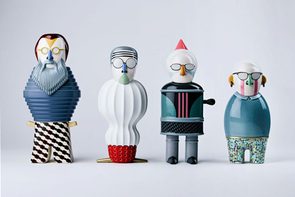 Figurki dla marki Bosa, projekt: Alessandro Mendini