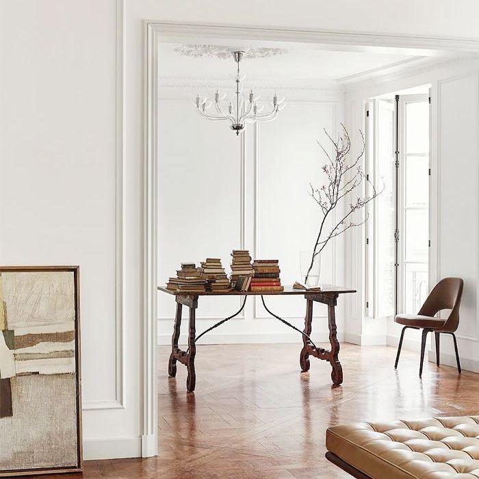 Francuskie wnętrza nie odzwierciedlają bieżących trendów, mają własny styl.