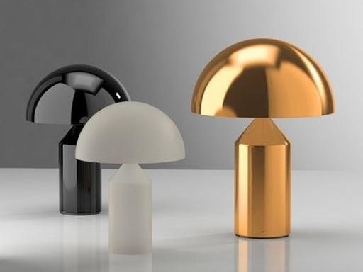 Lampa Atollo firmy Oluce, projekt: Vico Magistretti