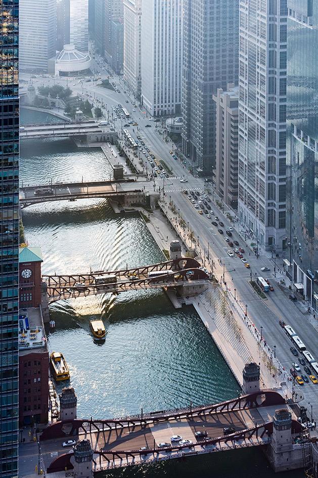 Chicago Riverwalk dla życia bliżej rzeki