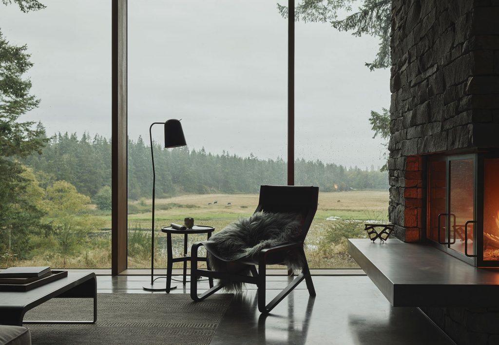Drewno, beton, kamień - są bazowymi materiałami zamysłu wnętrzarskiego.