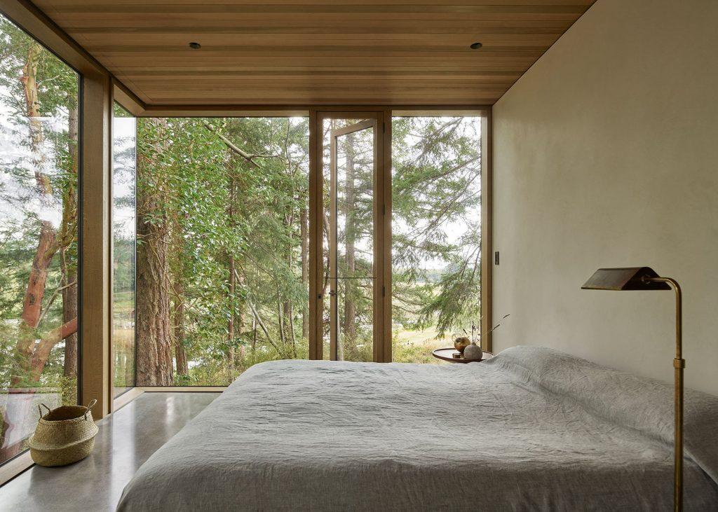 Prywatne strefy domu emanują cisza i spokojem.