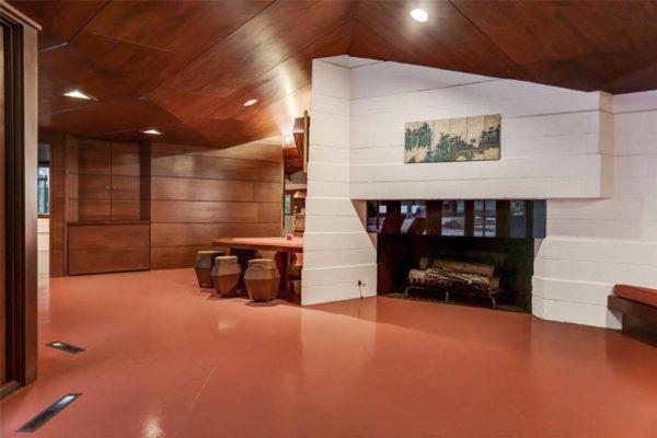 frank-lloyd-wright-Thaxton house wnętrze