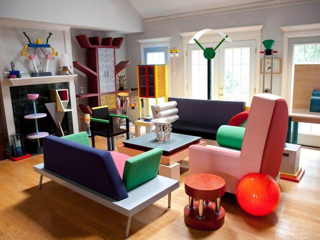 Kolorowy styl Ettore Sottsassa był rodzajem designerskiego protestu przeciw porządkowi Bauhausu.