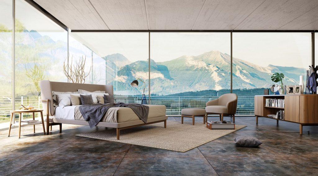 luksusowa sypialnia wizualizacja DAR Studio Render