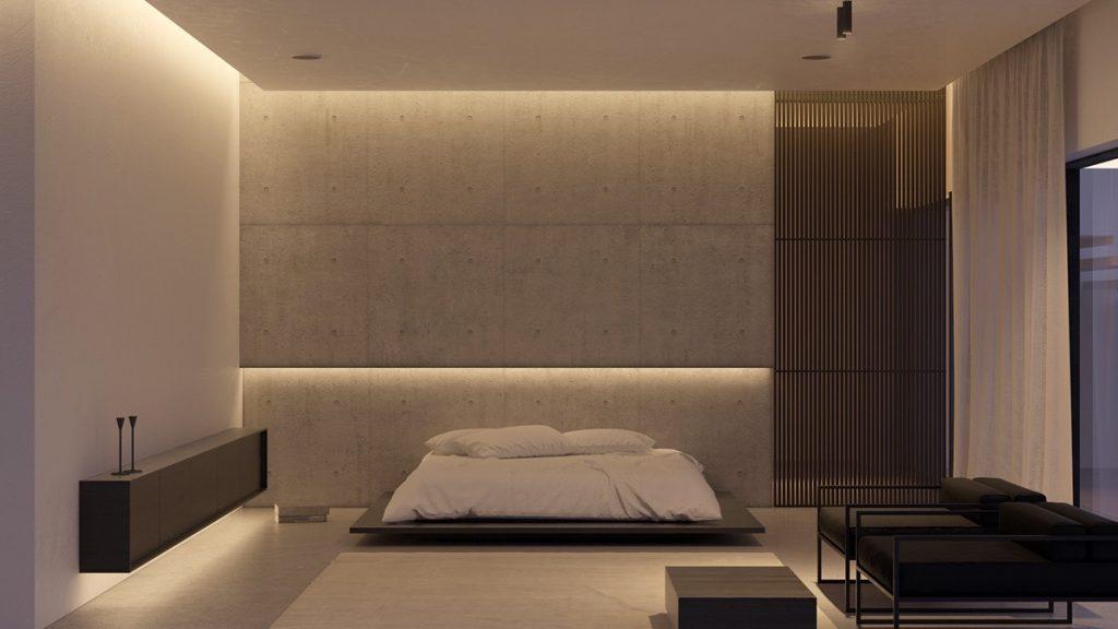 luksusowa sypialnia Wizualizacja- KDVA Architects