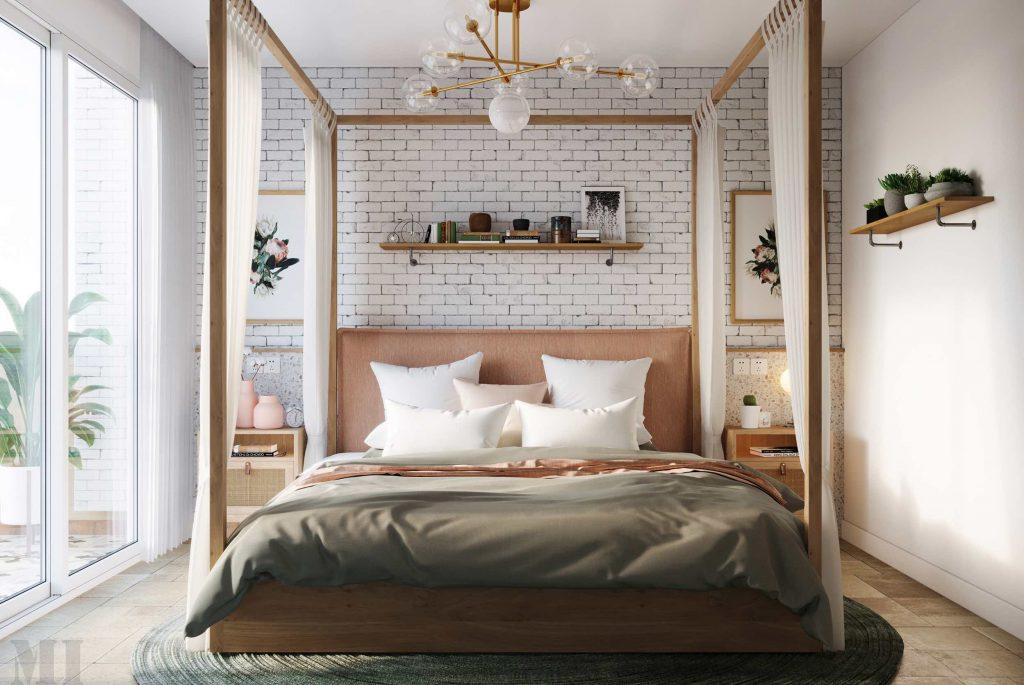 luksusowa sypialnia wizualizacja Mohamad Issa