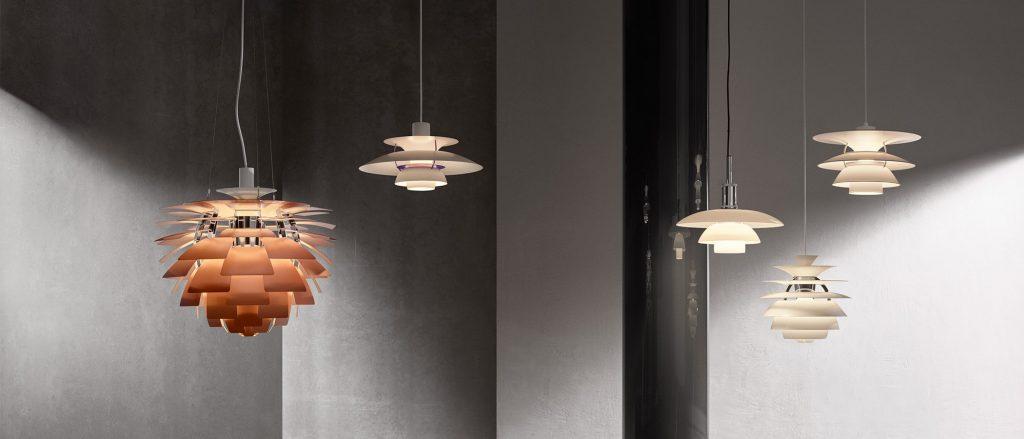 duński design oświetlenie Poula Henningsena
