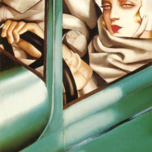 "Tamara Łempicka, dzieło: ""Portrait-in-the-green-bugatti"", 1925"