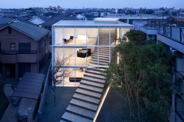 projekt domu Nendo stairway-house02