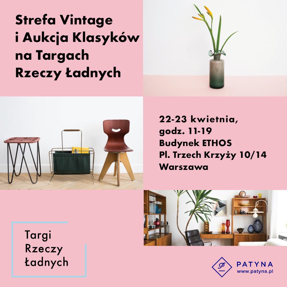 Patyna.pl i Targi Rzeczy Ładnych – aukcja klasyków designu