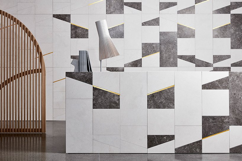 wall&floors- 'marea more' wall covering with inlays by chapman taylor