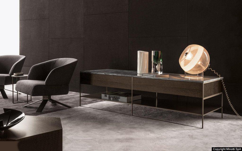 Minotti calder-bronze-consolle-design Rodolfo Dordoni