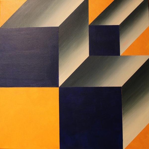 Dzieła sztuki Galeria.Leonarda.Art.Gallery.Magda Mosakowska, Sześciany, akryl, 2015