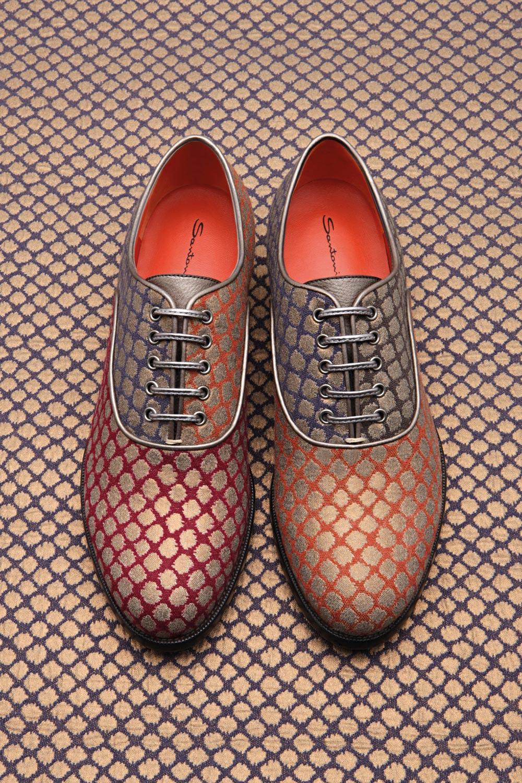 Włoskie małżeństwo – buty Santoni w związku z tkaninami Rubelli