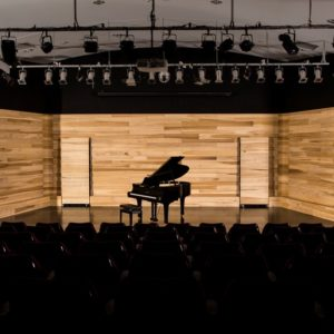 Drewno i Performance hall at Northern Beaches College